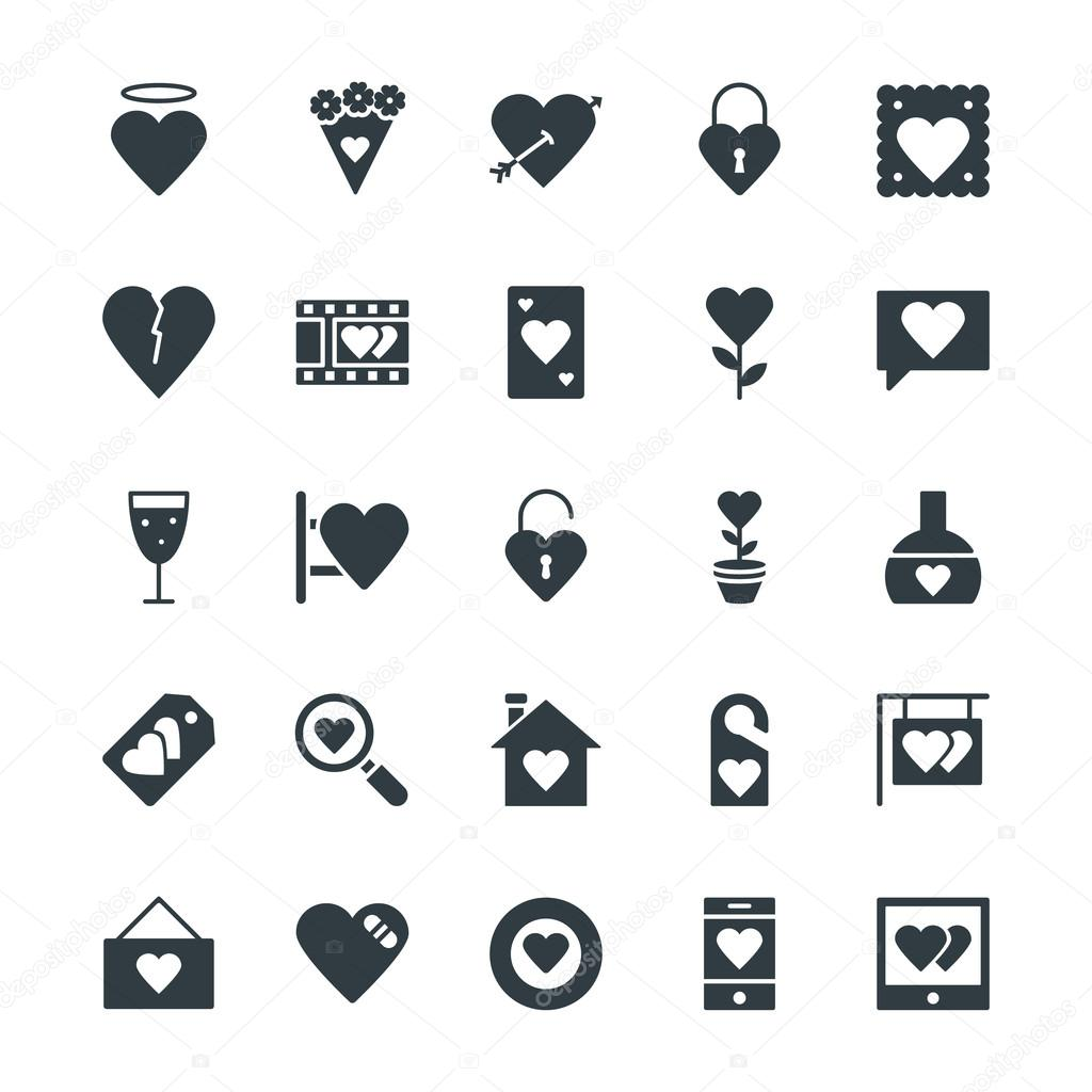 Love and Romance Cool Vector Icons 2