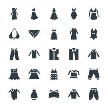 Fashion and Clothes Cool Vector Icons 9