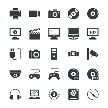 Multimedia Cool Vector Icons 1