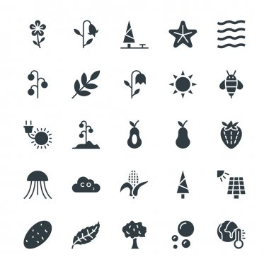 Go green with these brand new Nature Colored Vector Icons You will love using these vectors in nature, ecology, environment and sustainability related work stock vector