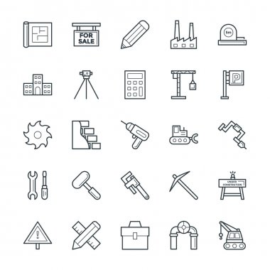 Construction Cool Vector Icons 4