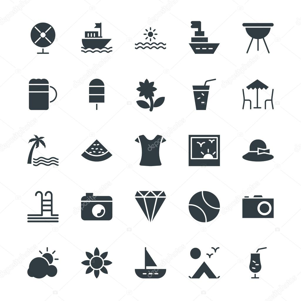 Summer Cool Vector Icons 1