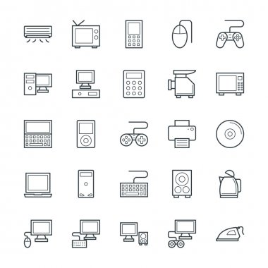 Electronic Cool Vector Icons 1