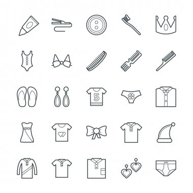 Fashion and Clothes Cool Vector Icons 6