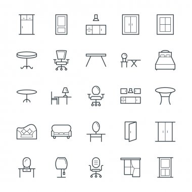 Furniture Cool Vector Icons 3