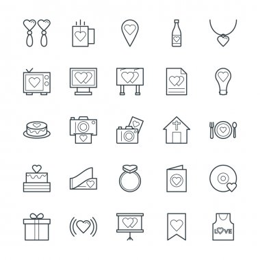 Love and Romance Cool Vector Icons 3