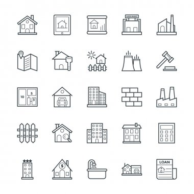 Real Estate Cool Vector Icons 1