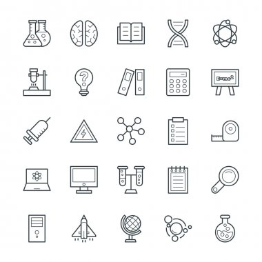 Science and Technology Cool Vector Icons 3