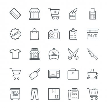 Shopping Cool Vector Icons 1