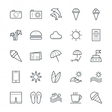 Get down to the beach and seaside this summer and hop on a boat with this Summer Vector Icons Pack Included in this pack is everything you need to design your project. icon