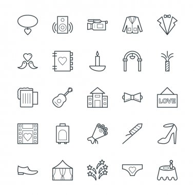 Wedding Cool Vector Icons 4