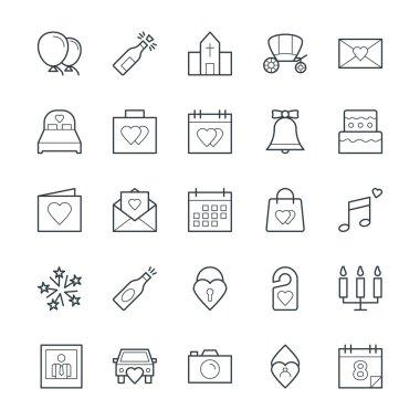 Wedding Cool Vector Icons 1