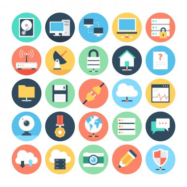 Web and Networking Flat Vector Icons 1