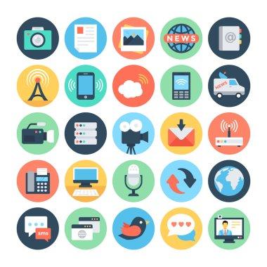 Communication Flat Vector Icons 5