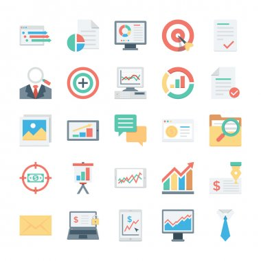 Finance and Payments Colored Vector Icons 4