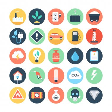 Energy and Power Colored Vector Icons 2