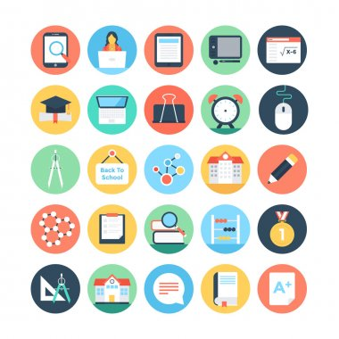 Modern Education and Knowledge Colored Vector Icons 5