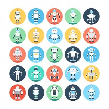 Robots, Robotics Vector Icons 4