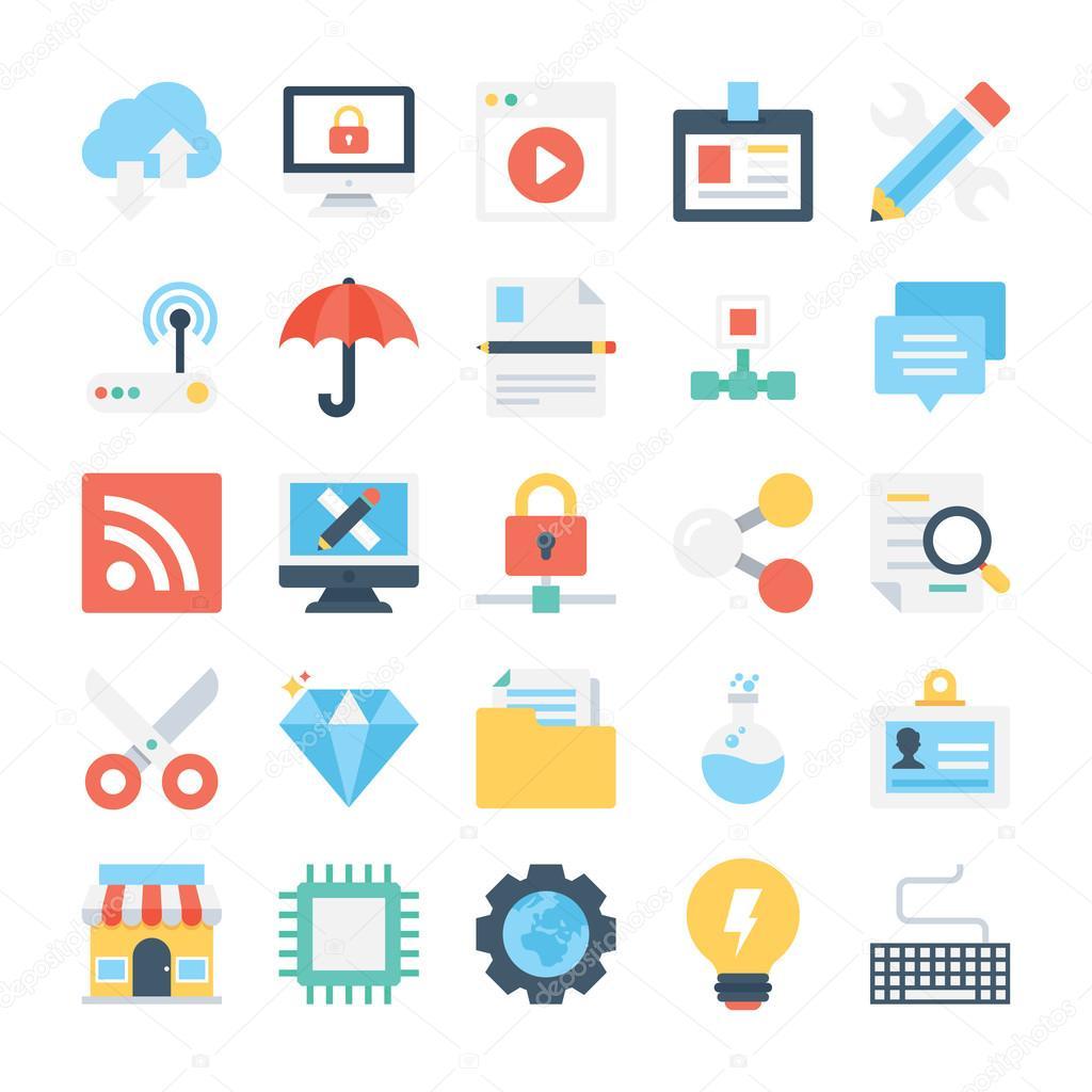 Diseño web y desarrollo Vector iconos 6 — Archivo Imágenes ...