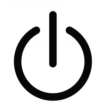 Power Button Bold Line Icon