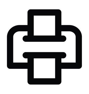 Printer Bold Line Icon