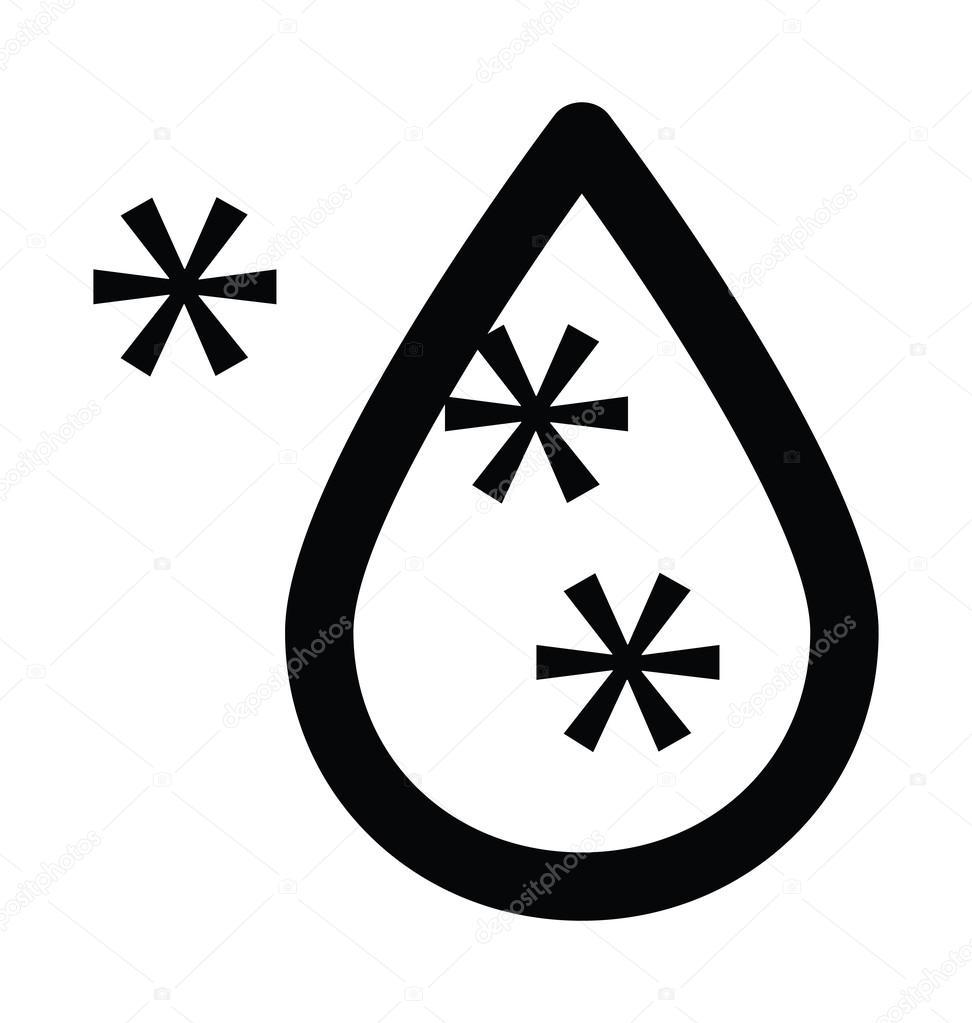 Deszcz Zimowy Wiersz Pogrubiony Ikona Grafika Wektorowa