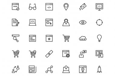 Online marketing Vector Line Icons 1