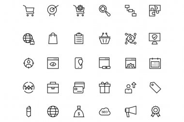 Online marketing Vector Line Icons 3