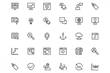 Online marketing Vector Line Icons 2