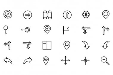 Navigation Vector Line Icons 2