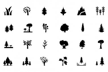 Forest Vector Solid Icons 1
