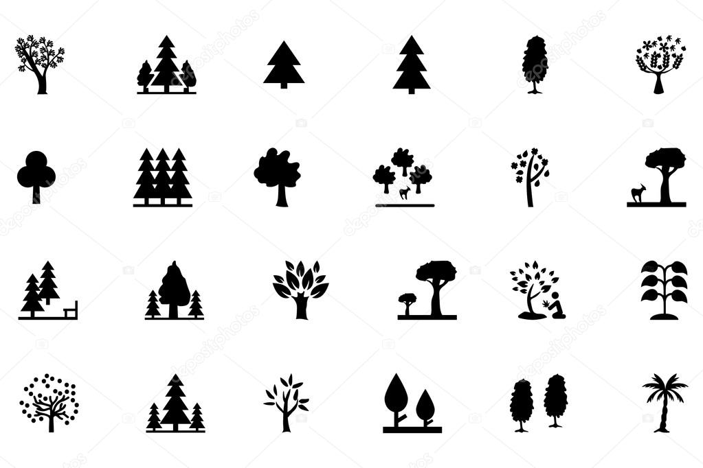 Forest Vector Solid Icons 2