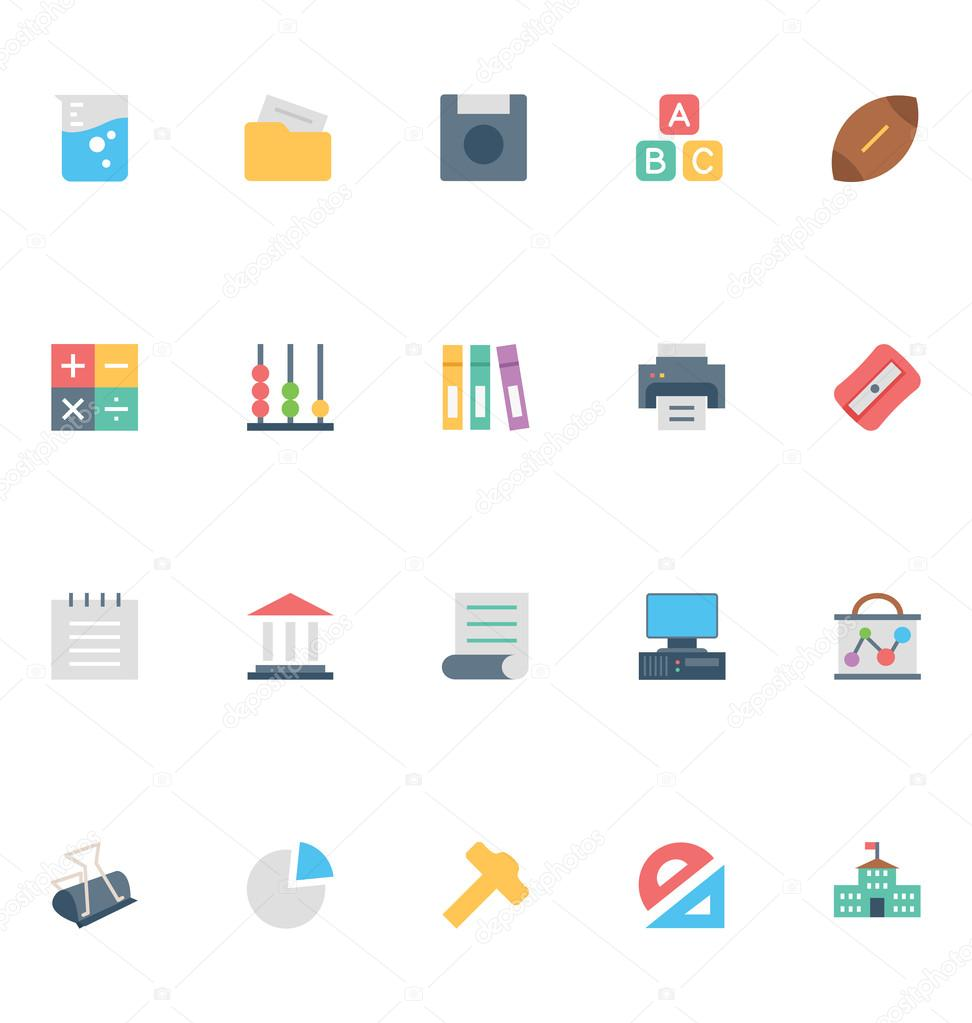 Flat Education Vector Icons 4
