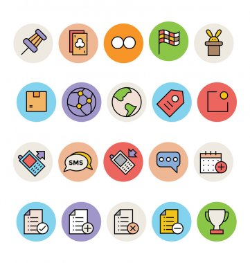 Basic Colored Vector Icons 4