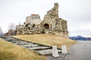 Sacra di San Michele ruins Avigliana Turin  Italy