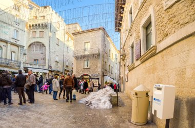 San Marino State little square christmas holidays in italy