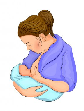 the mother and child. breastfeeding.