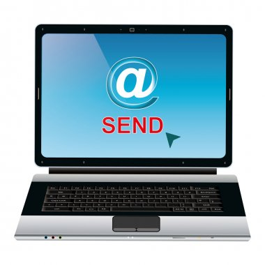 Send email for click vector concept