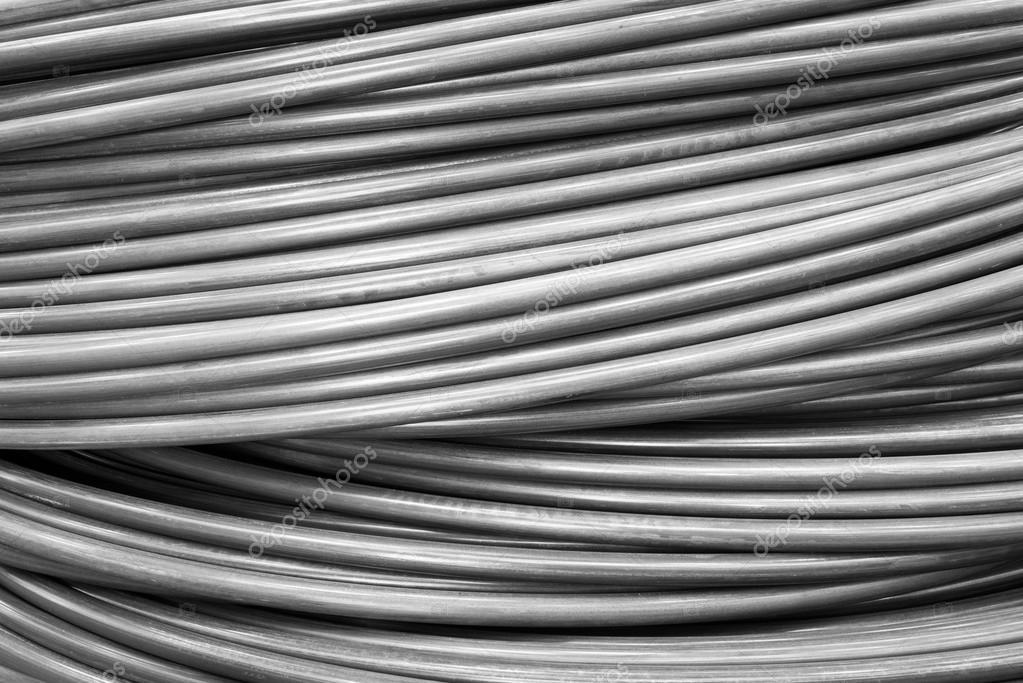 Draht-Spule Metall materiell Textur für industrielle Hintergrund ...