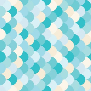 Vector modern seamless colorful geometry pattern overlapping circles