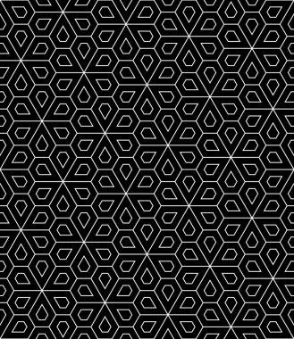 Vector modern seamless geometry pattern flower