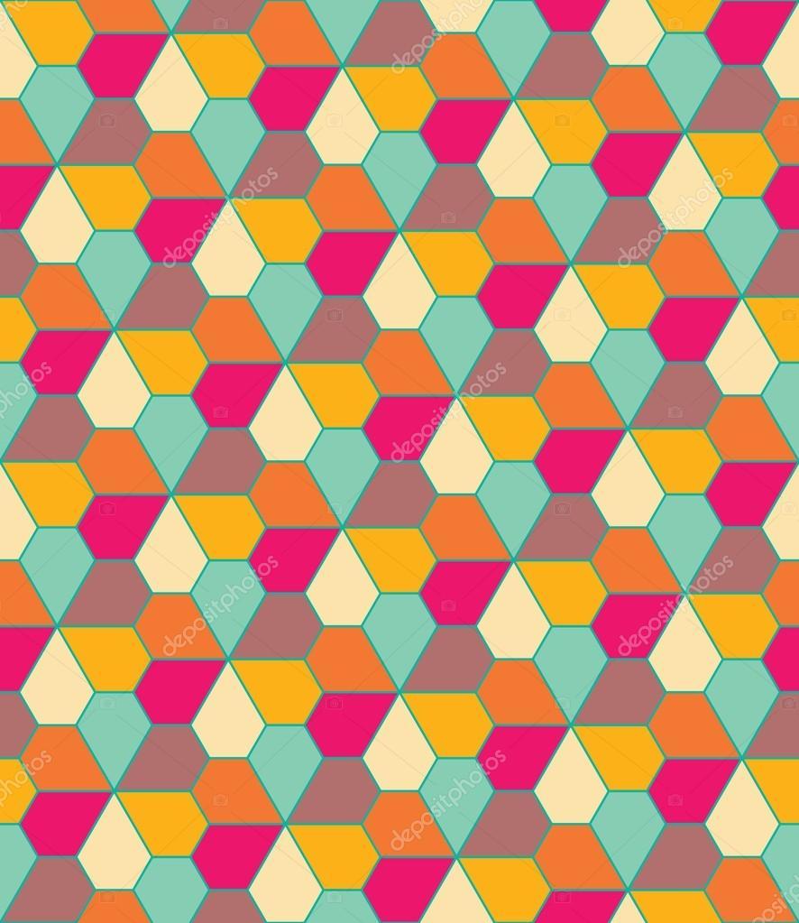 vector moderne motif g om trique color sans couture fleurs pentagone couleur abstrait. Black Bedroom Furniture Sets. Home Design Ideas