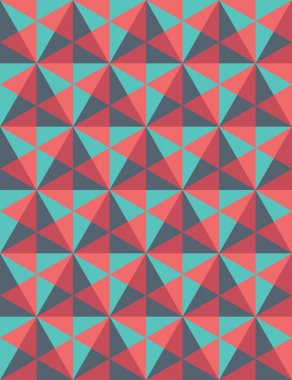 Vector modern seamless colorful geometry pattern, mosaic, color red blue,  abstract geometric background, trendy multicolored print, retro texture, hipster fashion design