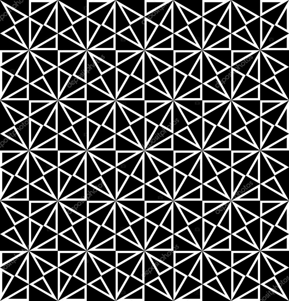 Vector modern seamless sacred geometry pattern polygon for Modern patterns black and white
