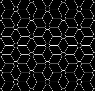 Vector modern seamless sacred geometry pattern flower of life, black and white abstract geometric background, pillow print, monochrome retro texture, hipster fashion design