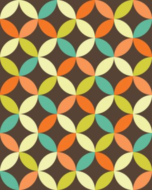 Vector modern seamless colorful geometry overlapping circles pattern, color abstract geometric background, pillow multicolored print, retro texture, hipster fashion design