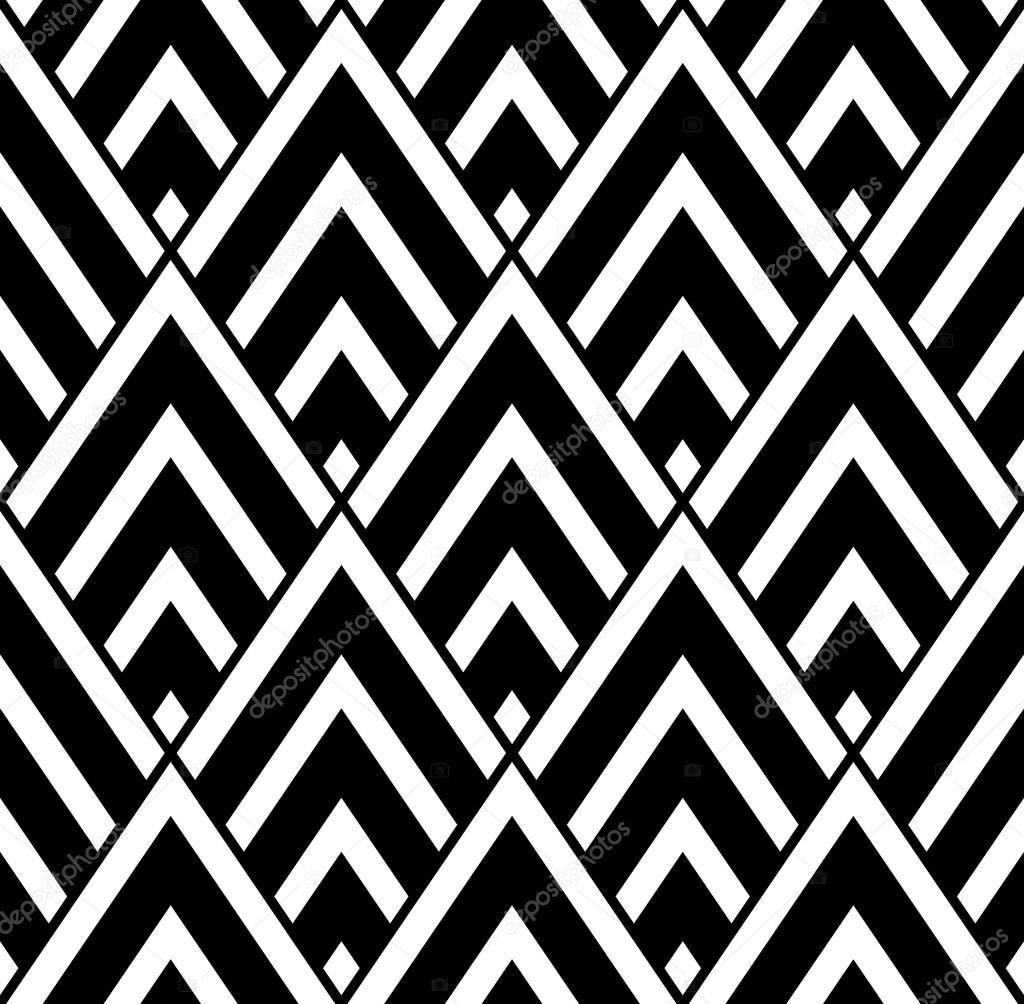 Vecteur Triangle Motif Geometrie Sans Soudure Moderne Noir