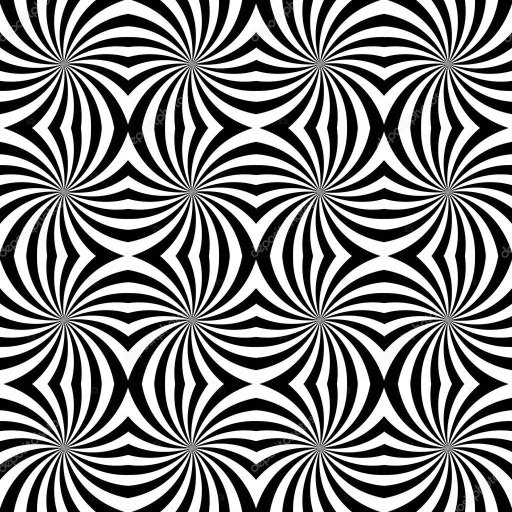 Vector Modern Seamless Geometry Pattern Spiral Black And White