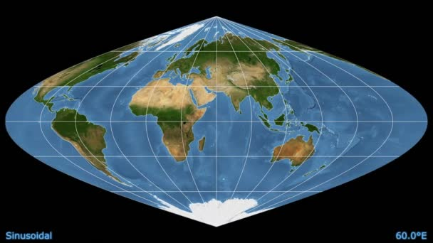 Animated world map in the azimuthal equidistant projection blue animated world map in the azimuthal equidistant projection blue marble raster stock video distortion patterns gumiabroncs Images