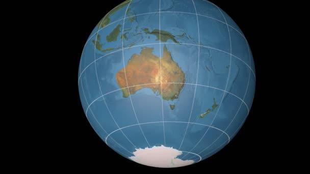 Australien extrudiert. Blauer Marmor. Strichplatte.